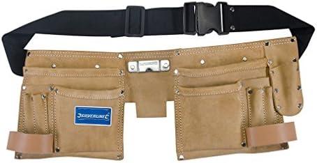 design de qualité c874e 8aae9 Silverline 395015 Ceinture-sacoche daim double poche à 11 pochettes 300 x  200 mm