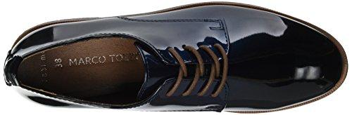 Marco Tozzi 23200, Oxford para Mujer Azul (Navy Patcomb)
