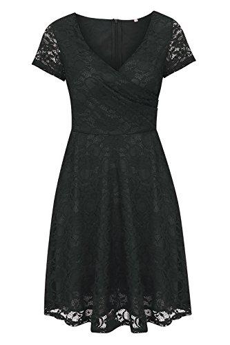 DINGANG - Vestido - Manga corta - para mujer negro