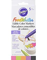 Wilton FoodWriter Color Edible Markers, 5-Piece