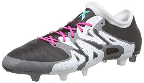 adidas Herren X 15.2 FG/AG Fußballschuhe Schwarz (Core Black/Shock Mint S16/Ftwr White)