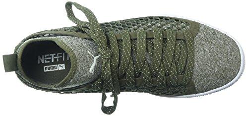 Puma Mens Cestino Classico Netfit Sneaker Di Oliva Notte-puma Bianco