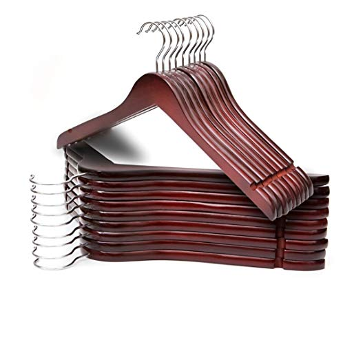 Shirt Hangers Wood - Premium Quality Solid Wooden Shirt Hangers (Cherry) Pack of 20