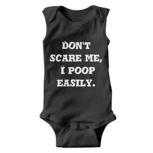 Don't Scare Me I Poop Easily Halloween Unisex Onesies Baby Cute Infant