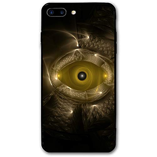 Fractal Eye Shape Patterns Printed iPhone 7/8 Plus Cover Full Body Protect Compatible for iPhone 7/8 Plus Case - Dominoes Quartz