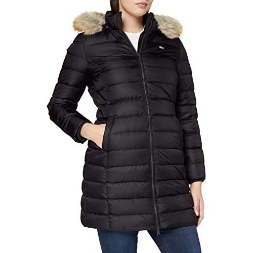 chollos oferta descuentos barato Tommy Jeans TJW Essential Hooded Down Coat Chaqueta Negro M para Mujer