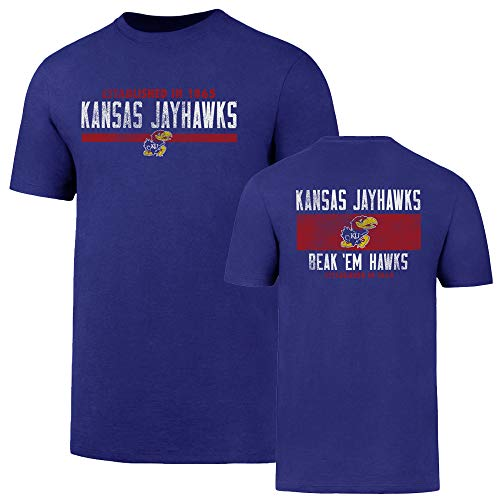 (NCAA Kansas Jayhawks Men's OTS Rival Tee, Royal, X-Large)