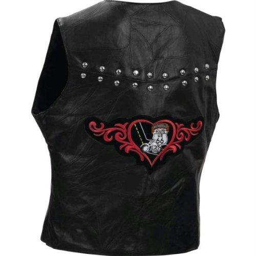 Ladies Leather Vest Rt66 - 5x - Style GFVL665X
