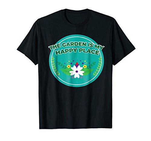 Cute Floral Garden Happy Place Flower Botanic T-Shirt