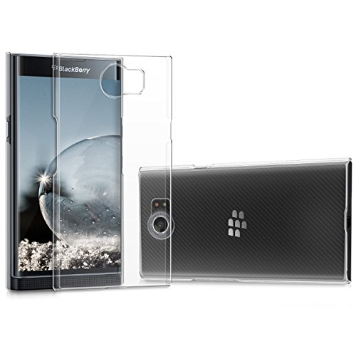 kwmobile Crystal Case for BlackBerry Priv - Hard Durable Transparent Protective Cover - Transparent