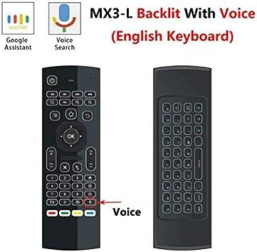 Mando a distancia MX3 para X96 Mini KM9 A95X H96 Max Android TV Box Android TV Box Android Windows, Linux, Mac OS, Smart TV (Verificar si su material es compatible) (MX3L: Amazon.es:
