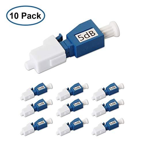 LC/UPC Fiber Optic Attenuator 5dB, in-Line Attenuator, Male/Female, Single-Mode Fixed, dB Options: 3dB, 5dB, 7dB, 10dB, 10 Pack