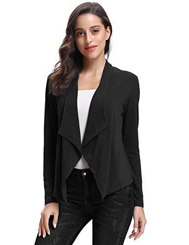 donna scialle Black2 Evening Giacca Black Maniche Chiffon Elegante da Bolero Blazer Chic corta Basic Jacket 4 Cardigan 3 Bianco TT1xUEw8