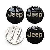 MonboAuto Wheel Center Caps HubCap Stickers - 4PCS 65MM 2.56 Inches Car Styling Accessories Emblem Badge Sticker Wheel Hub Caps Centre Cover fit for Jeep Cherokee Patriot Wrangler Compass