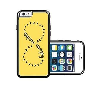 RCGrafix Brand hakuna-matata Violet plain black iPhone 6 Case - Fits NEW Apple iPhone 6 by icecream design