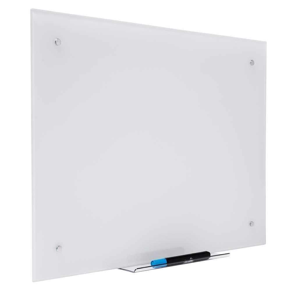 Pizarra de Vidrio Blanca 90x120 cm - Magnética