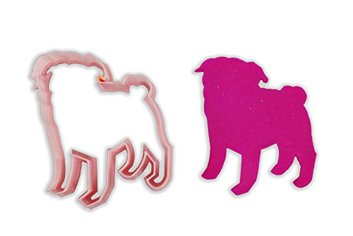 Pug Dog Breed Cookie Cutter - LARGE - 4 Inches