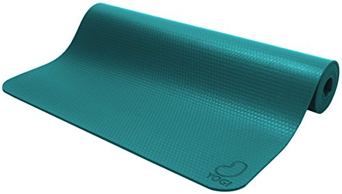 Bean Products Yogi Teal Premium Hi Grip Mat Perfect for Yoga, Pilates and Jump - Non Toxic Natural Rubber and Polymer Blend - Earth Friendly Chicago - Our 30th Year!!! Bean Products Natural Rubber