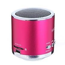 Kingzer Mini enceinte Lecteur MP3/Micro SD/TF son amplificateur Audio Rose