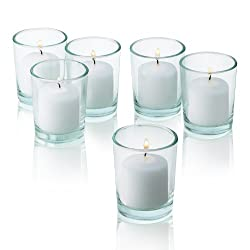 White Votive Candles - Box of 72 Unscented Candles
