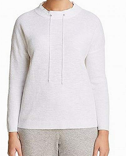(Eileen Fisher Funnel Neck Waffle Knit Womens Small Sweater White S)