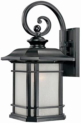 Acclaim 8122BK Somerset Collection 1-Light Wall Mount Outdoor Light Fixture