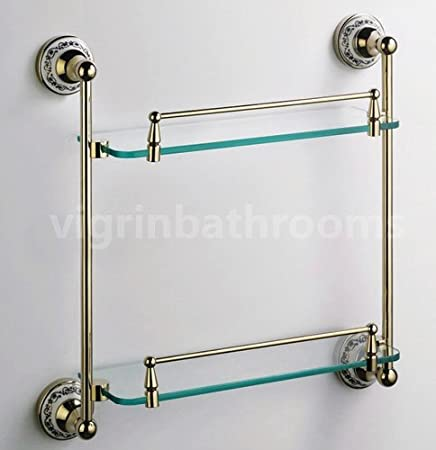 BATHROOM ACCESSORIES SOLID BRASS SHOWER TOILET GOLD VICTORIAN DOUBLE ...