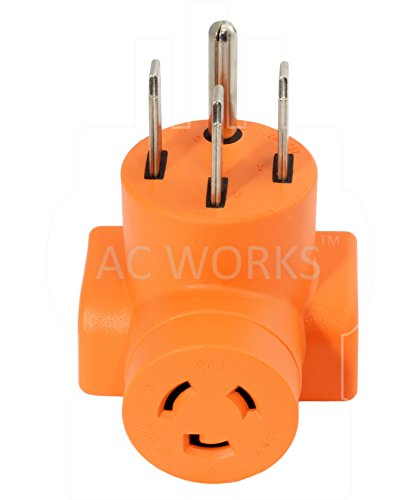 AC WORKS [AD1450L620] Plug Adapter NEMA 14-50P 50Amp 125/250Volt Range/RV/Generator Power Plug to NEMA L6-20R 20Amp 250Volt Locking Female Connector Adapter by AC WORKS (Image #3)