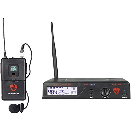 UHF 100-Channel Wireless Lavalier Handheld Microphone System ()