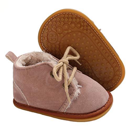 Meckior Winter Newborn Unisex Baby Girls Boys Velvet Rubber Sole Anit-Slip Shoes Prewalker Boots (0-6 Months Infant, A-Little ()