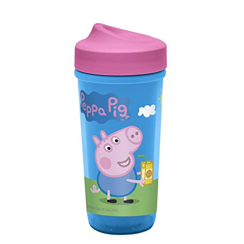 (Zak Designs Toddleriffic Peppa Pig 8.7oz Sippy Cup for Toddlers - Patented PerfectFlo Adjustable Flow Valve and Leak-Proof Design, Peppa)