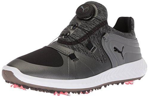 PUMA Golf Women's Ignite Blaze Sport Disc Golf Shoe, Black/Steel Gray, 8 Medium US