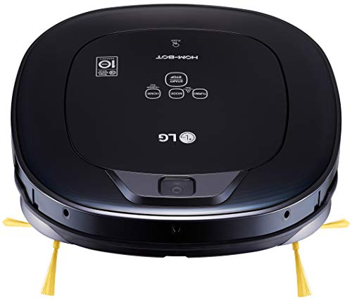 LG Hom-Bot Square Robotic Vacuum with Mop quietly cleans every corner of your home (VR65704LVM) ()