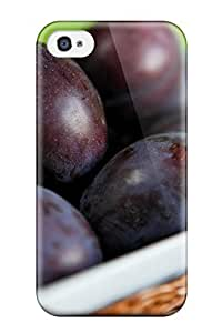 ReaFeCh12oqGjd Tpu Case Skin Protector For Iphone 4/4s Plums With Nice Appearance