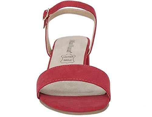 E Delle Quadrati Tacco Heel Classica Maxmuxun Lacci Basso Low Donne Scarpe Con Red Fibbie xYqC8SHw