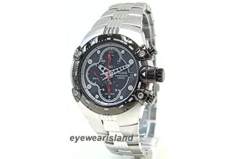 Amazon.com: Pulsar Mens PF3527 Tech Gear Alarm Chronograph Silver-Tone Watch: Pulsar: Watches