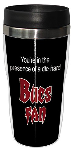 Tree-Free Greetings sg24137 Bucs Football Fan Sip 'N Go Stainless Steel Lined Travel Tumbler, 16-Ounce