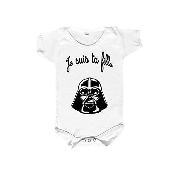 Blanc Coutures grises Parent Coton Body B/éb/é manches courtes Baby Geek Future gameuse comme papa et maman