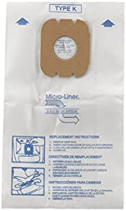Hoover Type K Replacement Spirit Canister 3 Pack, Style K Vacuum Cleaner Bag, K, White