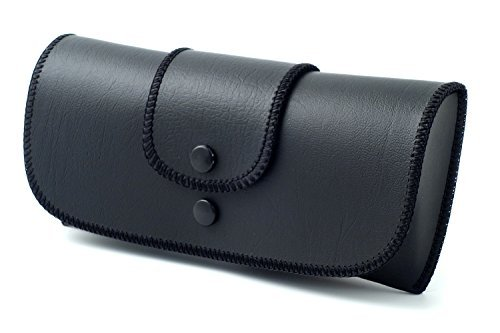 Soft Eyeglass Case Faux Leather, Attaches to Belt, Horizontal ()