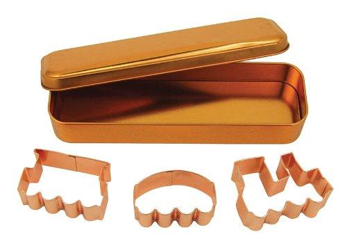 Fox Run Brands 21004 Copper Train Cookie Cutter Set