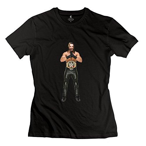 StaBe Women Wwe Seth Rollins T-Shirt 100% Cotton Cool M Black