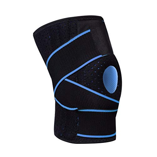 Samoii Knee Pads, Knee Brace for Men Women with Side Stabilizers Patella Gel Pads for Knee Support