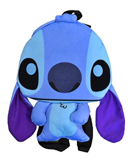 Stitch Disney Character - Disney Lilo and Stitch Experiment 626 Flat Plush Backpacks (Stitch)
