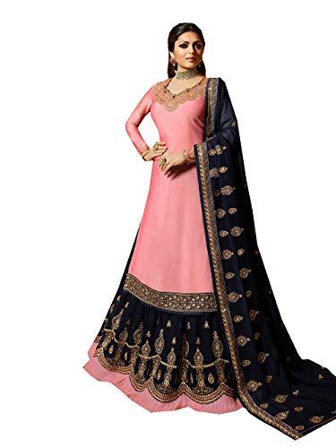 Fashion Anarkali Salwar Kameez Party Wear Maisha New (Pink, XL-44)