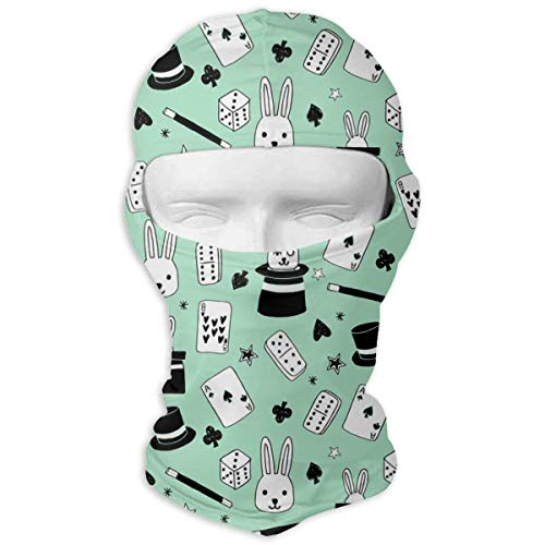 (Windproof Balaclava, Magic Bunny in A Hat Face Mask for Music Festivals White)