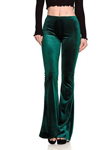 Women's J2 Love Velvet Flare Pants, Large, ()