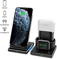 Ieiehd Wireless Charger, 3 in 1 Wireless Charging Station for iWatch, AirPods Pro/2, Detachable and Magnetic Wireless...