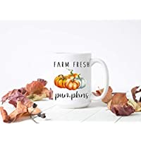 Fall Mugs, Farm Fresh Pumpkins, Cute Coffee Mug for Fall, Pumpkin Spice, Coffee Bar Home Decor, Fall Lover