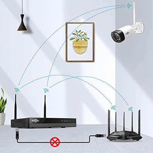 【Two Way Audio】Hiseeu Wireless Security Camera System,1TB Hard Drive,4Pcs 1080P Cameras 8Channel NVR,Mobile&PC Remote,Outdoor IP66 Waterproof,Night Vision,Motion Alert,Plug&Play,7/24/Motion Record 41eqSgTPEKL